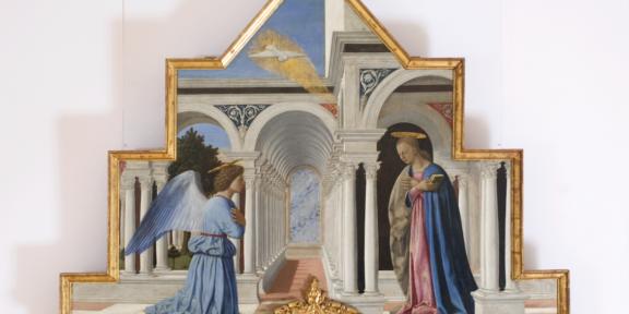 Polittico di Sant'Antonio di Piero della Francesca, Galleria Nazionale dell'Umbria (particolare)