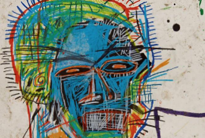 """Un'opera su carta di Basquiat in asta. """"Head"""" stima 9-12 milioni da Sotheby's"""
