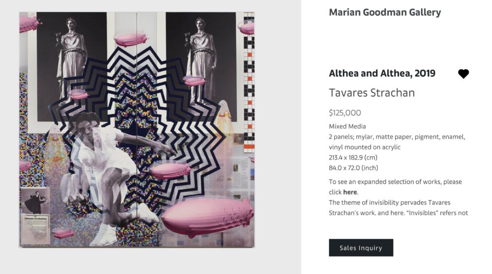 TAVARES STRACHAN, Althea and Althea, 2019, Mixed media, 213.4x182.9 cm - $125.000