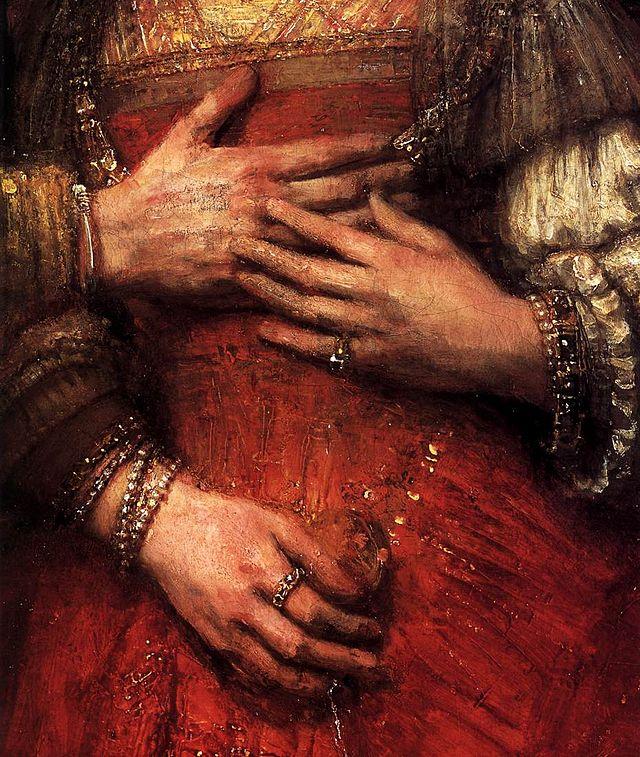 The Jewish Bride (particolare), Rembrandt