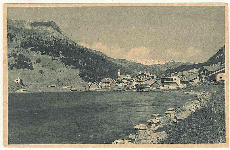 Veduta di Curon Venosta nel 1948