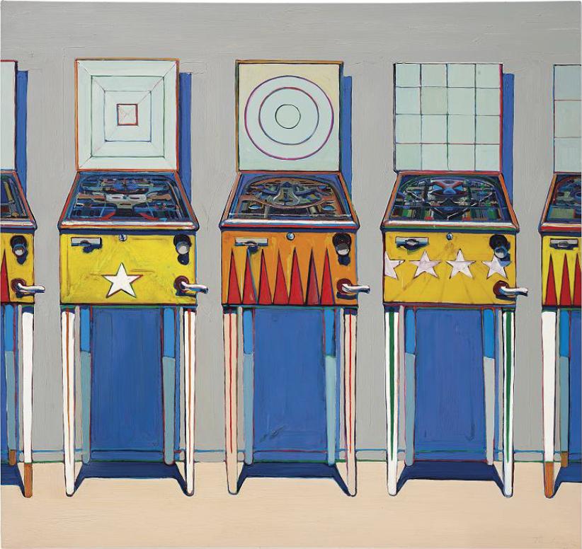 "Wayne Thiebaud in cerca di record. ""Four Pinball Machines"" stima 18-25 milioni"