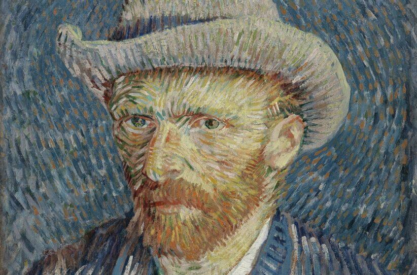 Vincent van Gogh: Autoritratto con cappello di feltro grigio, 1887, olio su tela, cm 44,5 x 37,2. Van Gogh Museum (Vincent van Gogh Foundation), Amsterdam