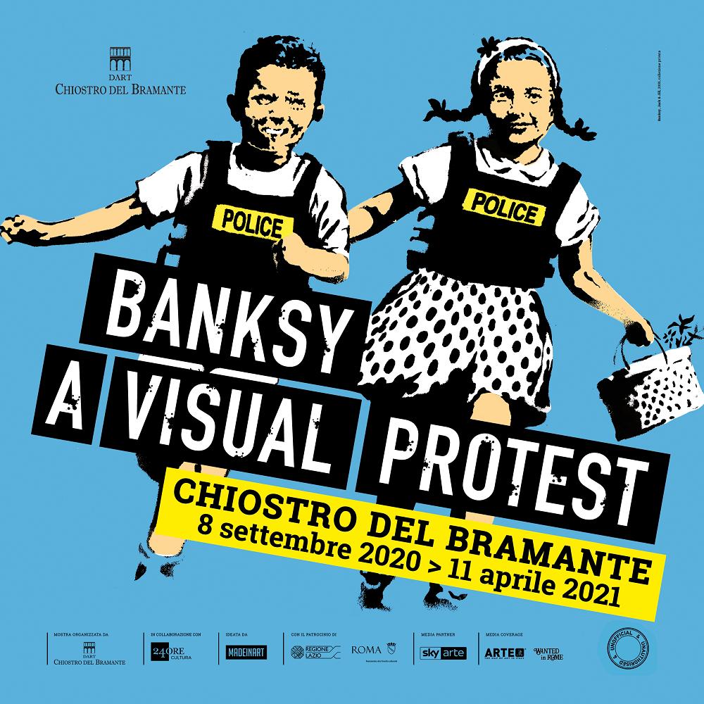 Locandina della mostra su banksy