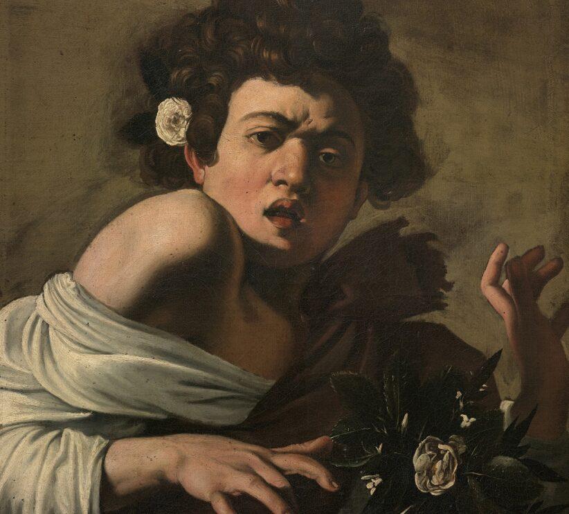 Michelangelo Merisi detto il Caravaggio Ragazzo morso da un ramarro 1597 circa Olio su tela, 65,8 x 52,3 cm Firenze, Fondazione di Studi di Storia dell'Arte Roberto Longhi