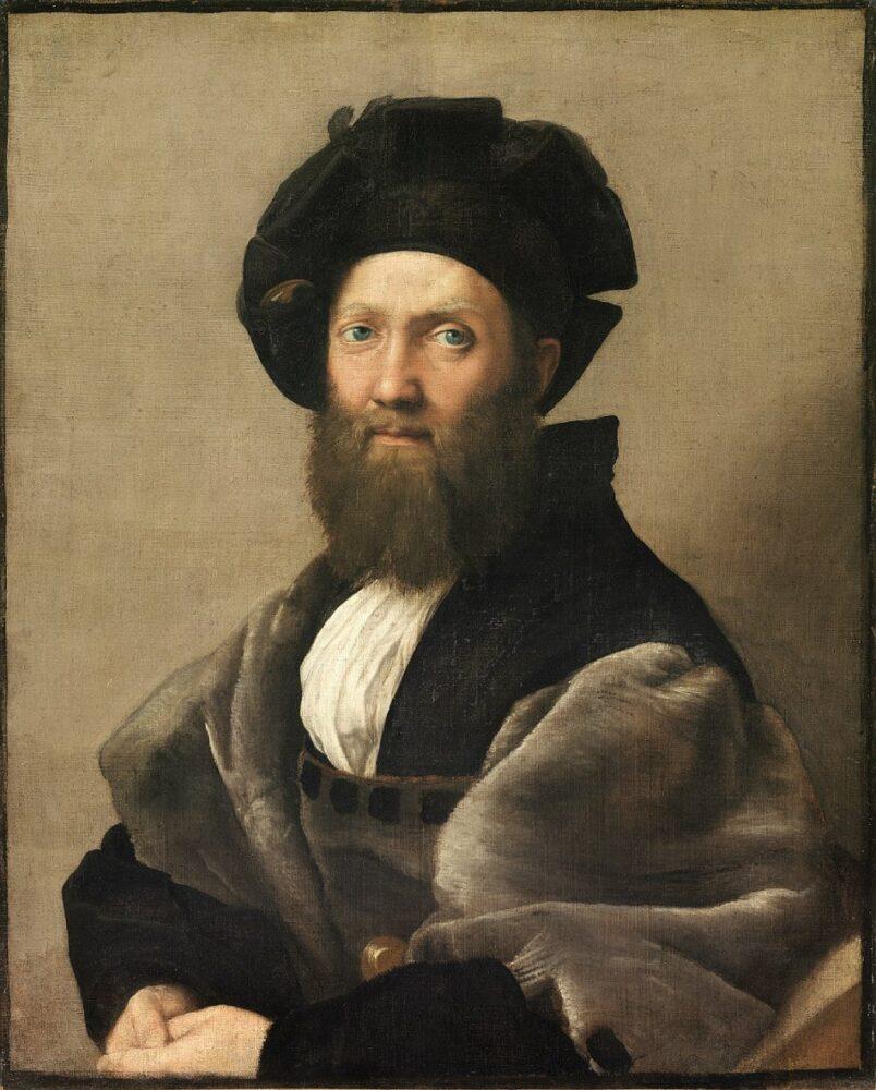 Raffaello, Ritratto di Baldassarre Castiglione, 1516-19 riproduzione di FACTUM ARTE (Adam Lowe).
