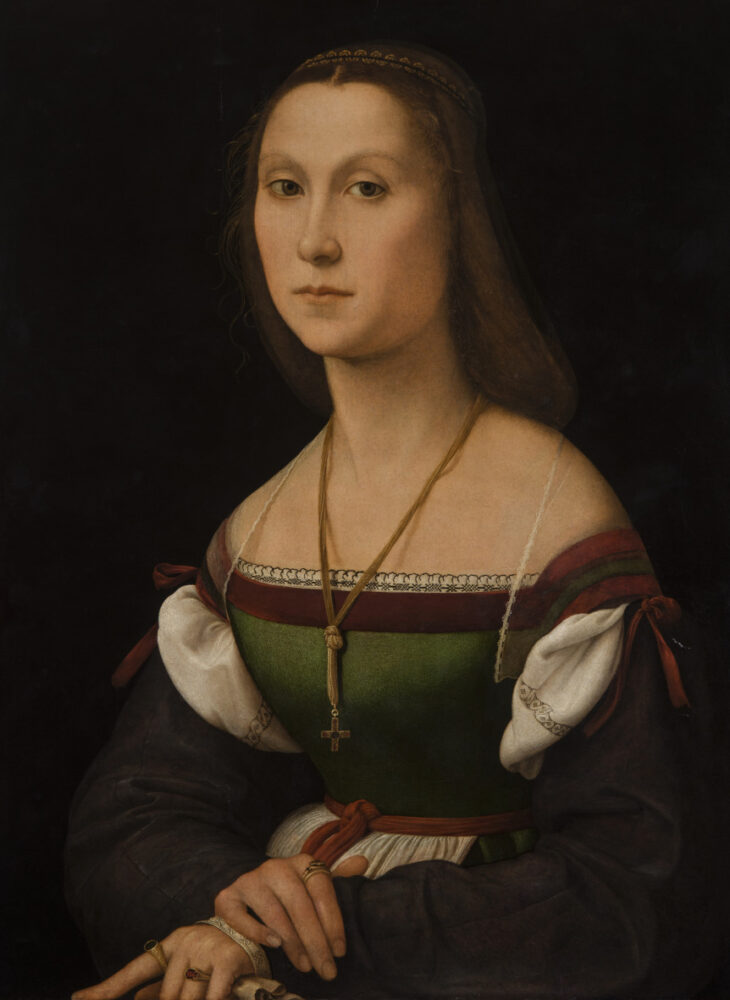Raffaello Sanzio, La Muta, 1507, olio su tavola, Galleria Nazionale delle Marche, Urbino