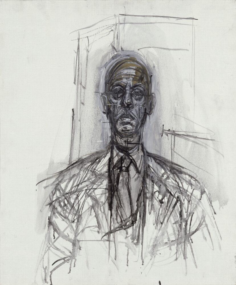 Alberto Giacometti Portrait de Maurice Lefebvre-Foinet,, 1964 Olio su tela 55 x 46 cm Kunsthaus Zürich, Alberto Giacometti-Stiftung (dono dell'artista), Zürich (©ProLitteris)