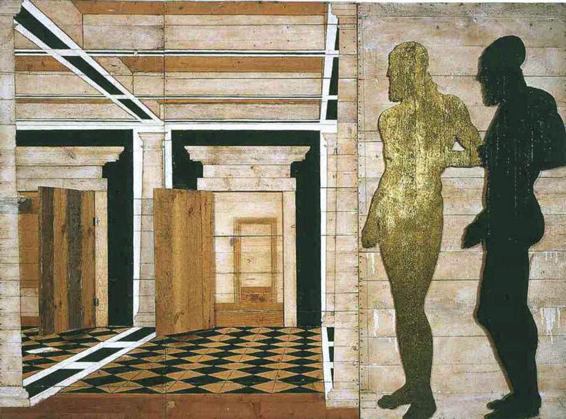 Serata di gala, 1981, legno di pino russo dipinto