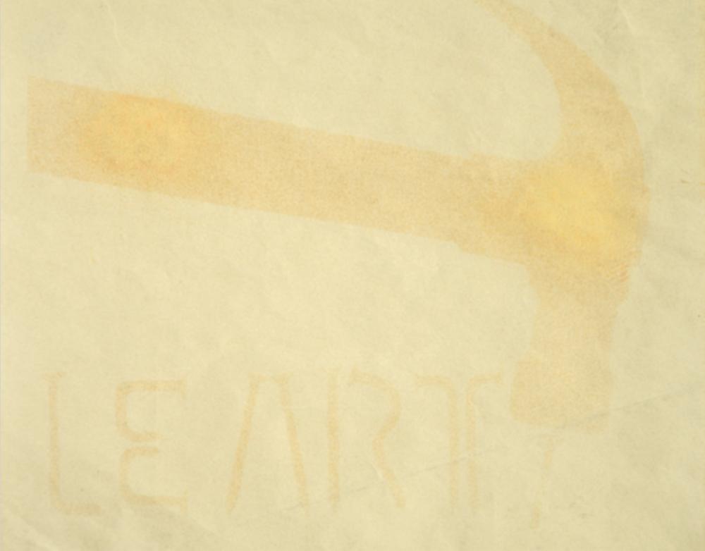 Pino Pascali, Omaggio a Ceroli, 1966, blueprint, cm 16 x 20