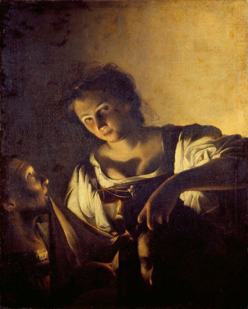 Carlo Saraceni Giuditta con la testa di Oloferne 1618 circa Olio su tela, 95,8 x 77,3 cm Firenze, Fondazione di Studi di Storia dell'Arte Roberto Longhi