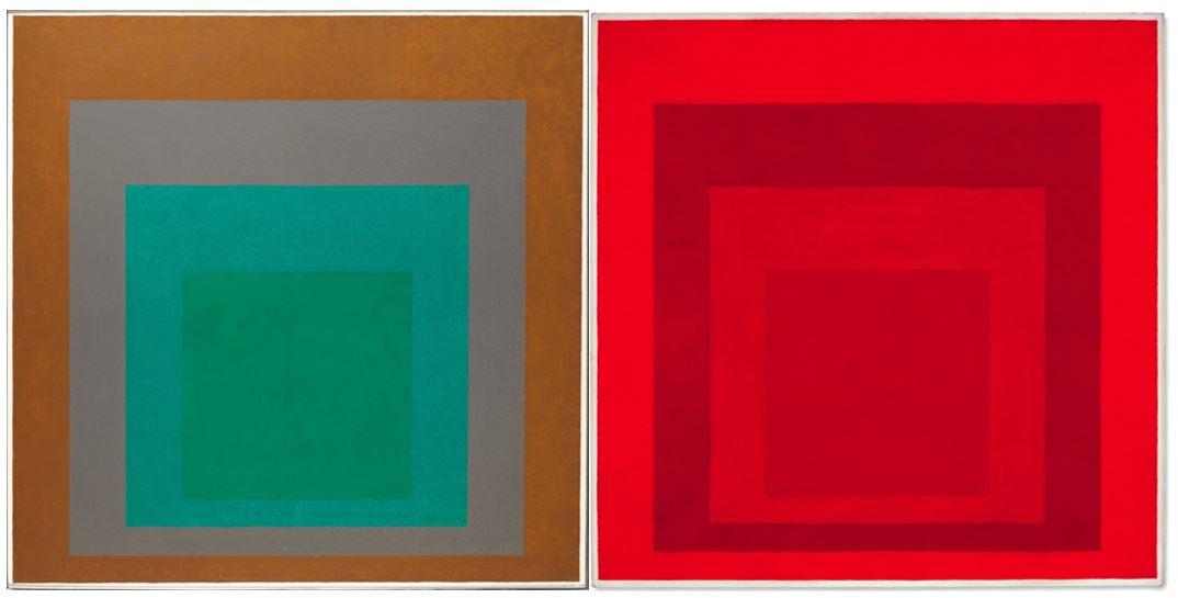 Josef Albers raddoppia (e si sdoppia). Due omaggi al quadrato in asta, uno a Parigi l'altro a Londra