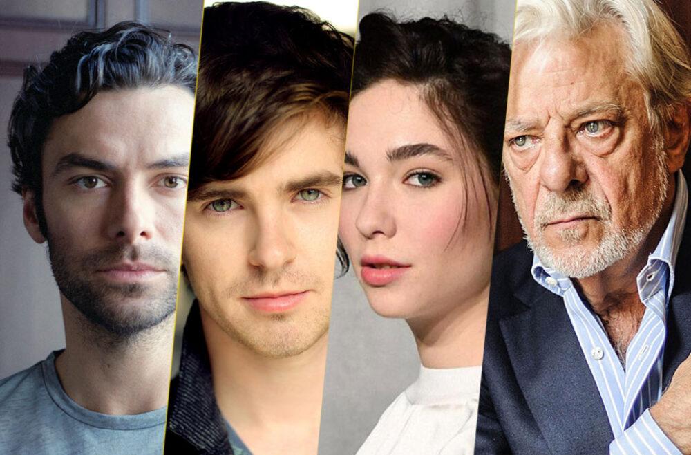 Aidan Turner, Freddie Highmore, Matilda De Angelis e Giancarlo Giannini, interpreti di Leonardo