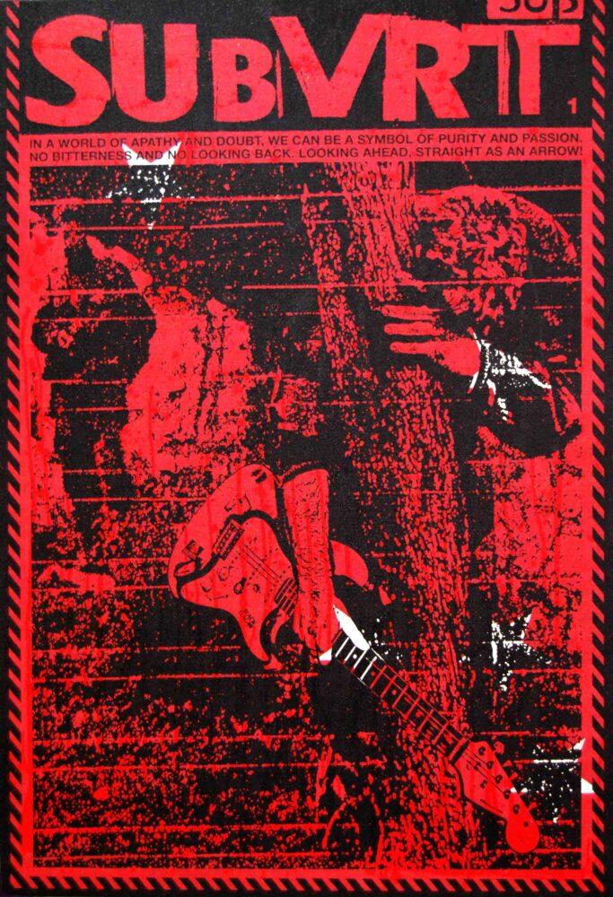 Fear Of Music (Subvert #1) - Serigrafia e acrilico su tela - cm 177 X 118 - 2009 - Collezione Privata