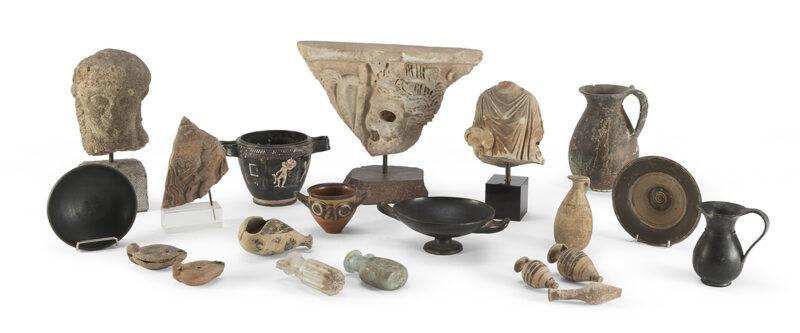 Selezione proposte archeologia in asta mercoledì 8 luglio da Babuino Casa d'Aste