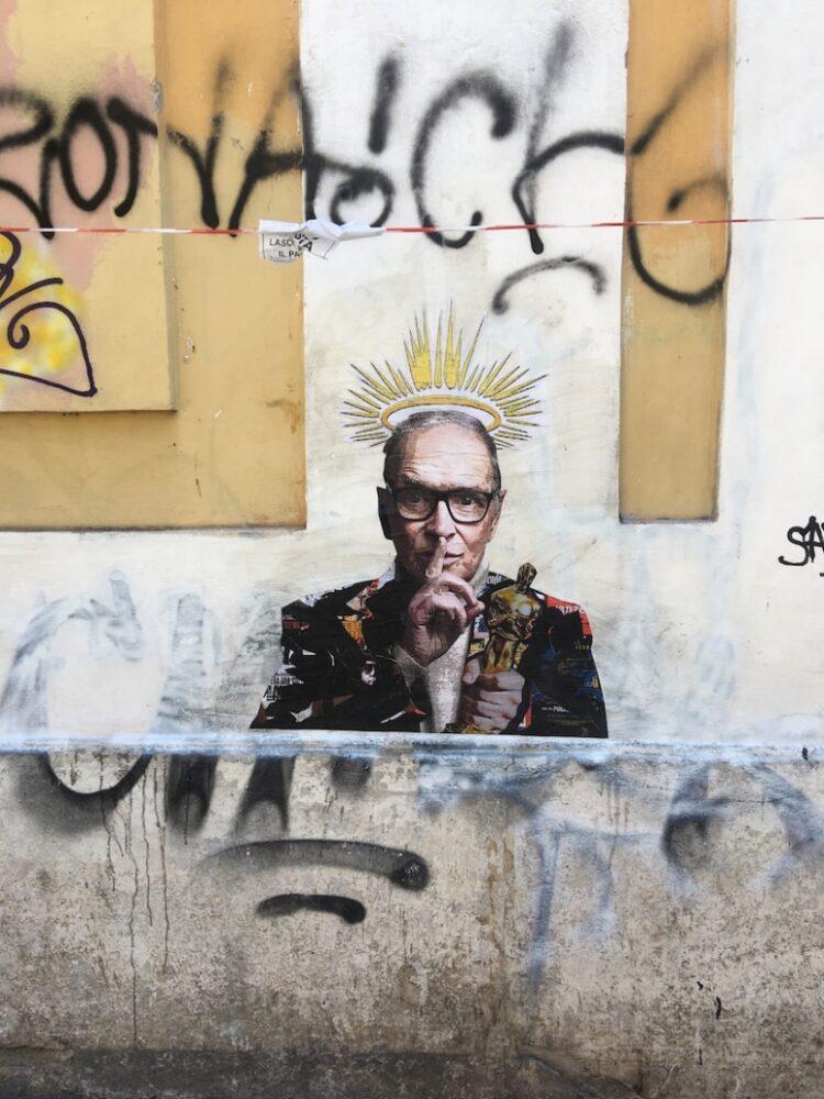 murale dedicato a Ennio Morricone