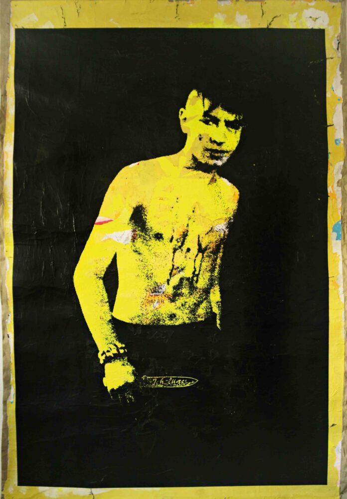 He Is Beyond Good And Devil (Ich Luge) - Mixed Media su tela - cm 200 X 140 - 2010 - Collezione Privata