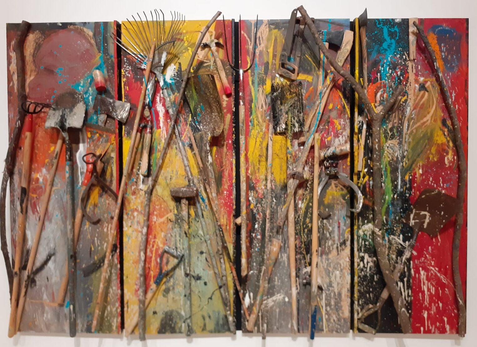 Autoritratti, cuori e detriti nella grande mostra antologica dedicata a Jim Dine a Palazzo delle Esposizioni di Roma