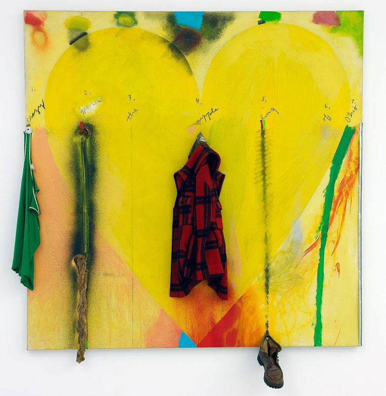 Jim Dine, Putney Winter Heart (Crazy Leon), 1971-1972   Musée d'art moderne et contemporain de Saint-Étienne Métropole ©Y. Bresson/MAMC+