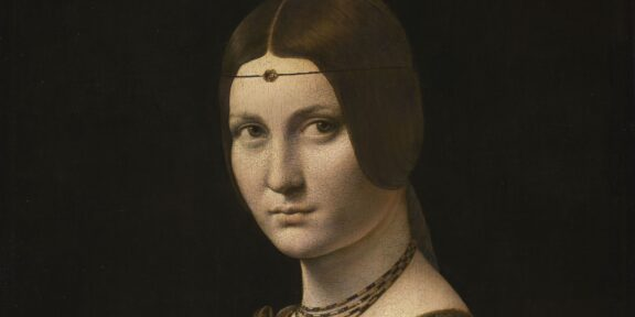 Leonardo da Vinci, particolare de La Belle Ferronnière