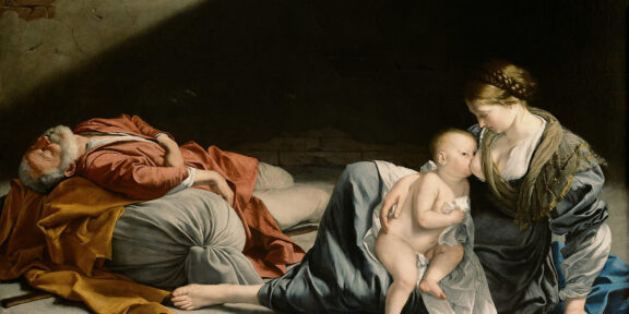 Orazio Gentileschi: Riposo durante la fuga in Egitto, olio su tela, Vienna, Kunsthistoriches Museum