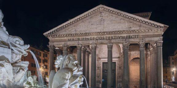 Nuova illuminazione artistica al Pantheon