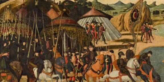 Paolo Uccello, Battaglia sulle rive di un fiume (particolare)