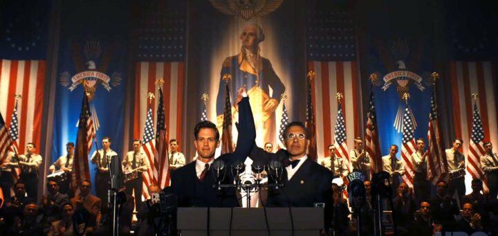 The Plot Against America. Ben Cole è Charles Lindbergh, John Turturro è il reverendo Belgelsdorf