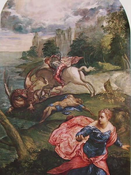Tintoretto, San Giorgio e il drago, 1560 circa
