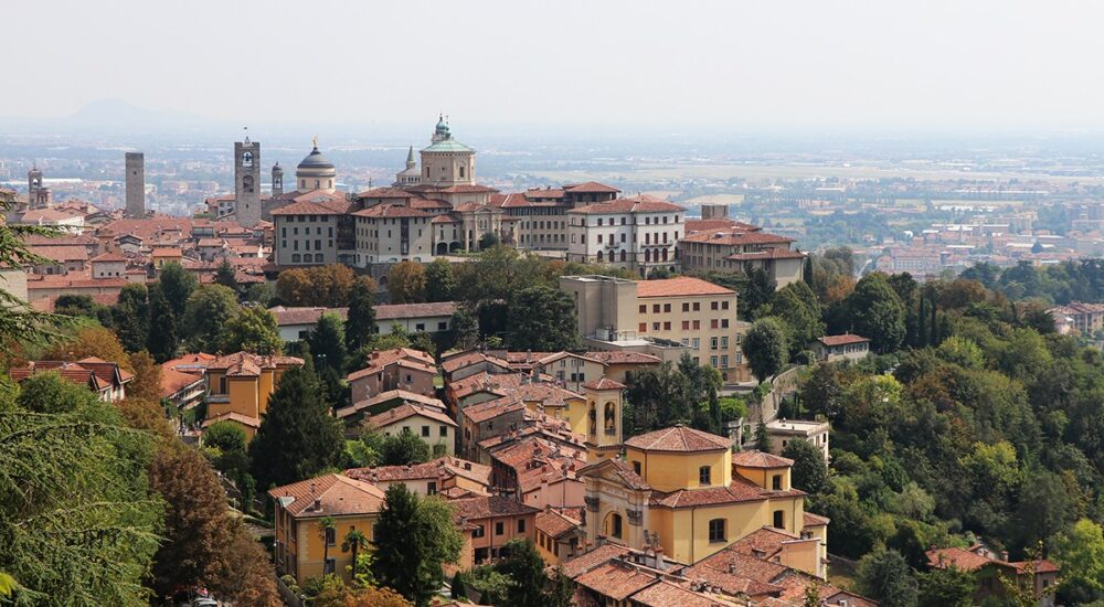 Una veduta di Bergamo