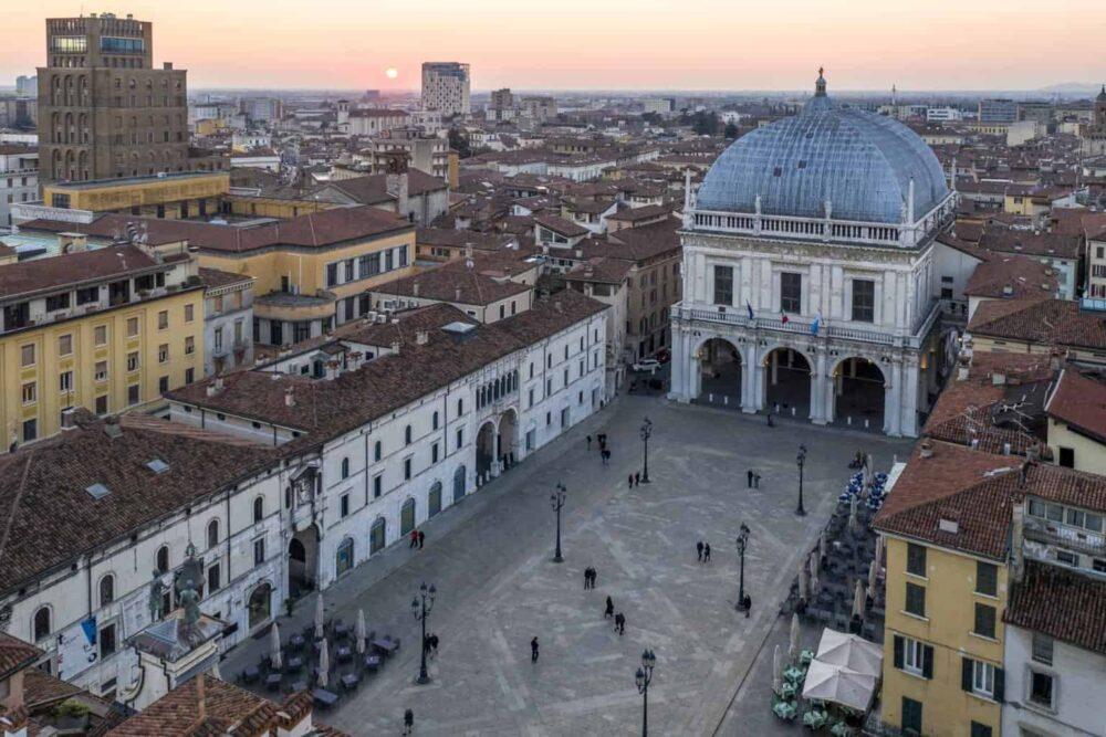 Una veduta di Brescia