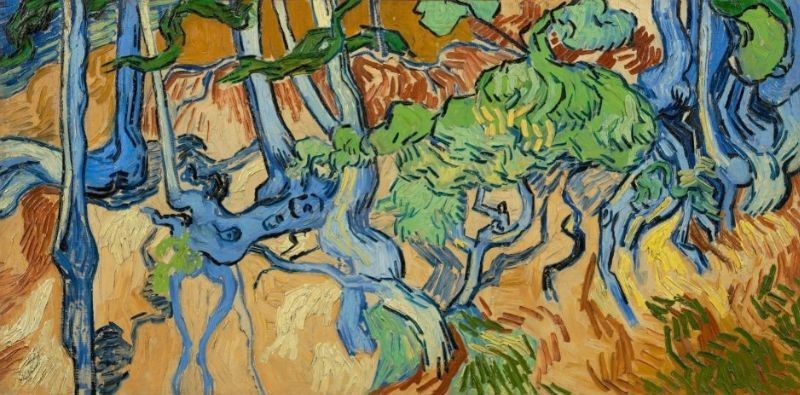 Vincent van Gogh, Tree Roots (1890), Courtesy Van Gogh Museum, Amsterdam (Vincent van Gogh Foundation)