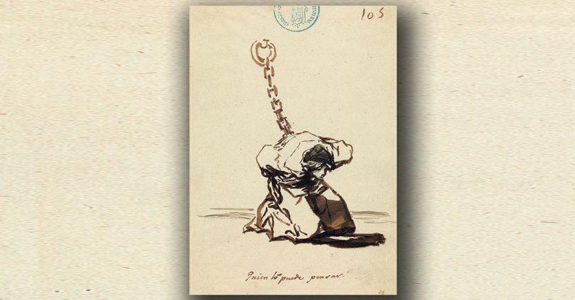Frati, mendicanti, prostitute: la varietà umana nei disegni di Goya