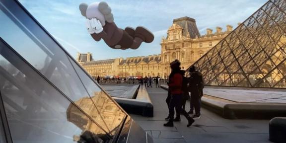 KAWS, COMPANION (EXPANDED) in Paris, 2020. Courtesy of KAWS and Acute Art.