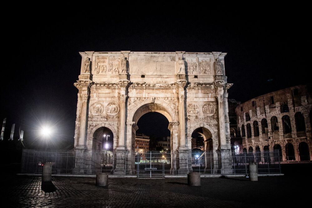 Nuova illuminazione per l'Arco di Costantino Immagine di Acea Gruppo