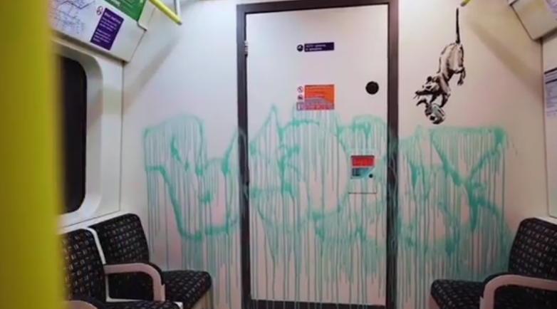 graffiti di Banksy sulla metro di Londra