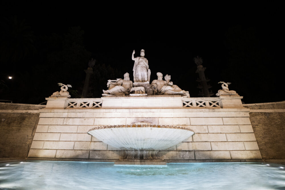 Nuova illuminazione a Piazza del Popolo