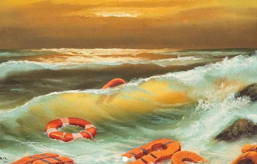 'Mediterranean Sea View 2017' all'asta. Banksy dona una sua opera per beneficenza
