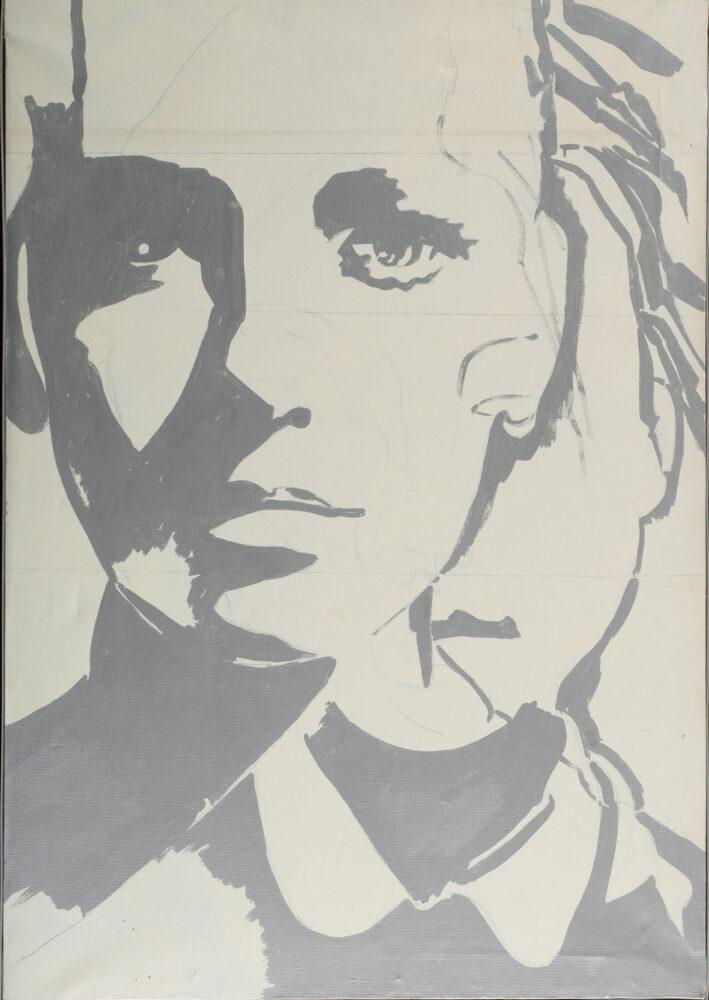 Giosetta Fioroni, Doppia identità, 1969, Smalto su tela