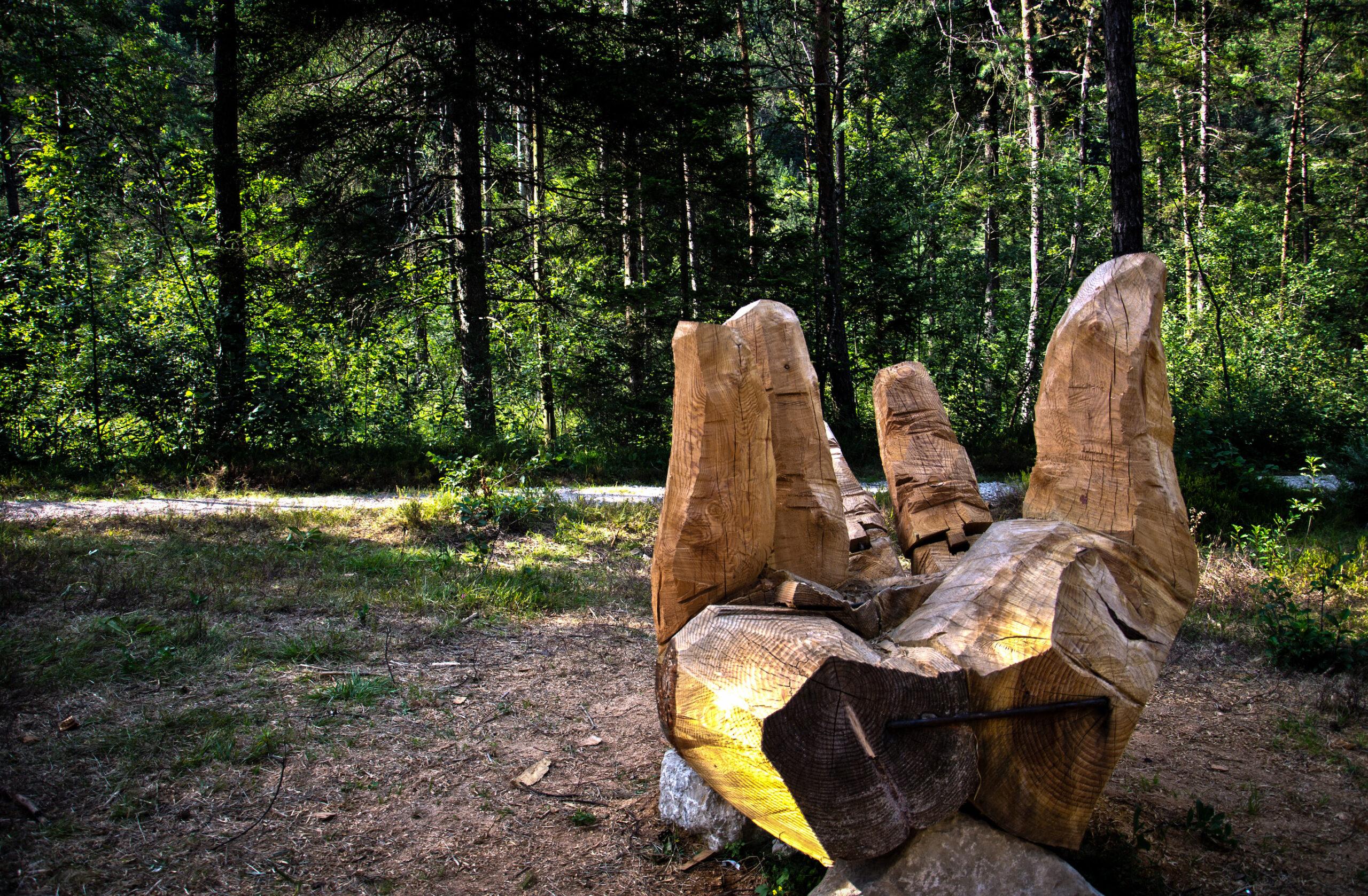 La terza opera di Arteparco è una grande scultura da cui rinascerà un albero