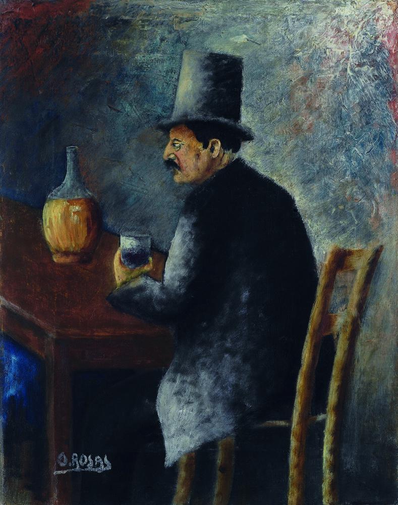 Ottone Rosai: Fiaccheraio, 1927 Olio su tela, cm 40,7x32,7