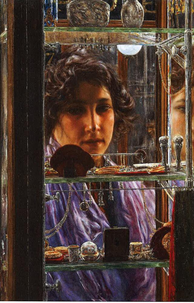 Vincenzo Migliaro Seduzione, 1906 olio su tela, 62 x 42 cm Collezione privata, Napoli