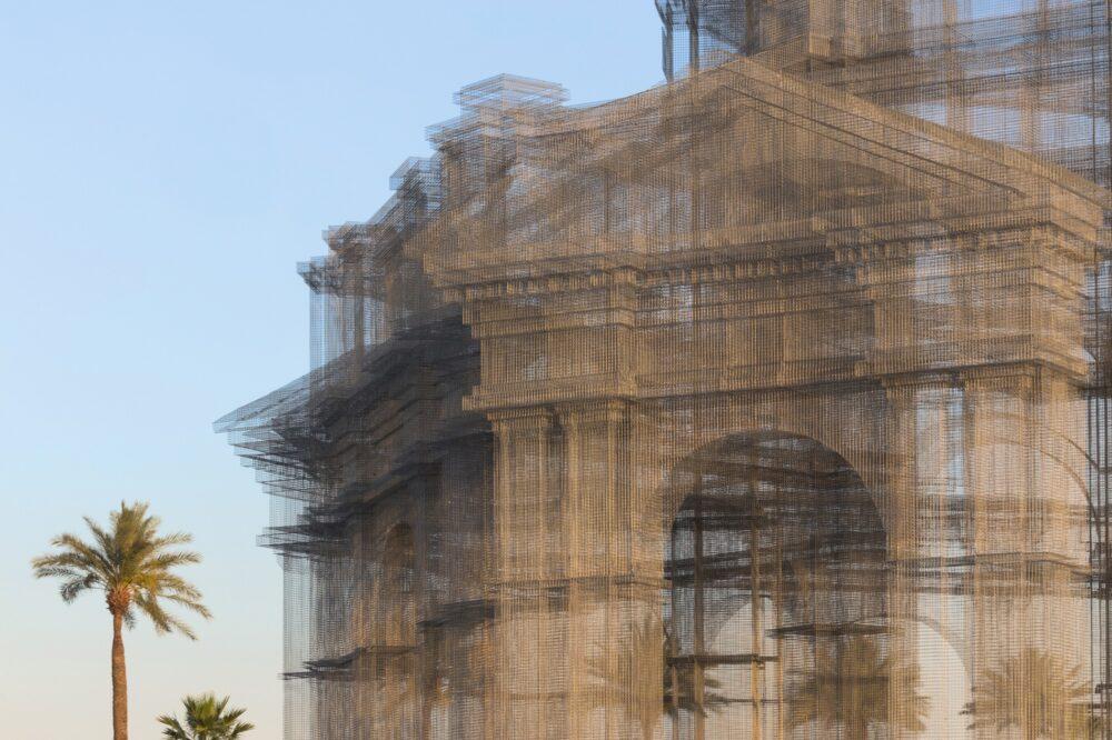 Backtonature_Mimmo Paladino, Senza titolo (Bandiera per Villa Borghese), 2020 cm 120x120 (1)