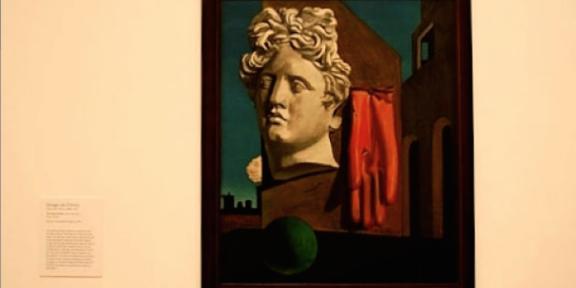 Canto d'amore, di Giorgio de Chirico, al MoMA