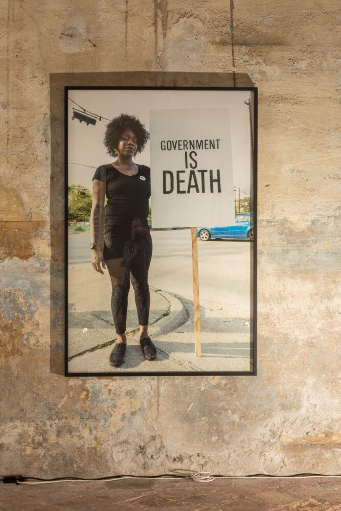 DEMOCRACIA, Government is death, 2019. Courtesy of the artist and Prometeo Gallery Ida Pisani Milan-Lucca � Ph. Lucio Ghilardi