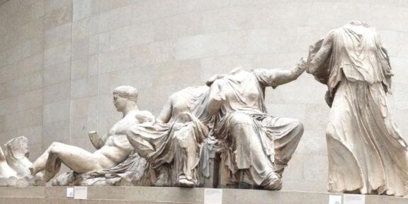 I marmi del Partenone, al British Museum