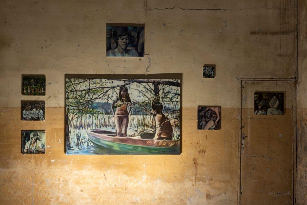 Iva Lulashi, installation view. Courtesy of the artist and Prometeo Gallery Ida Pisani Milan-Lucca � Ph. Lucio Ghilardi