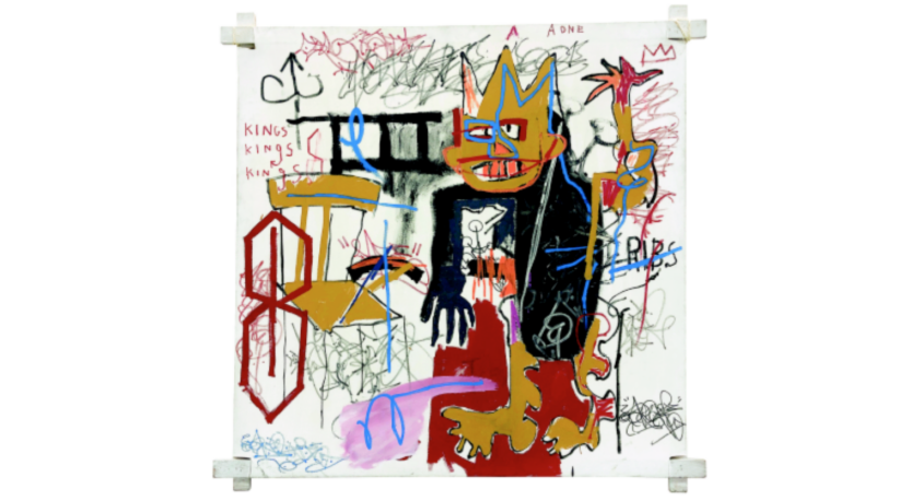 Portrait of A-One A.K.A King di Jean-Michel Basquiat