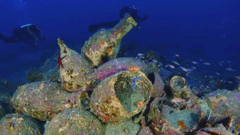 Un'immagine subacquea di uno dei relitti studiati in Sicilia