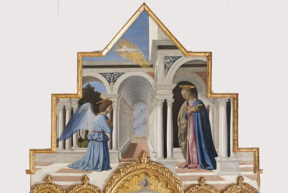 Piero della Francesca, Polittico di Sant'Antonio, 1460-1470 circa, dettaglio della cimasa